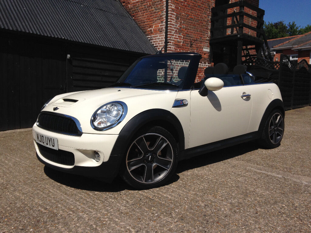 2010 mini cooper s convertible 2dr r57 white in hadleigh suffolk gumtree. Black Bedroom Furniture Sets. Home Design Ideas