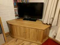 Solid oak TV and side unit