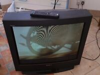 Sony TV with stand and Video Recorder