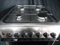 indesit double all gas cooker...stainless/steel