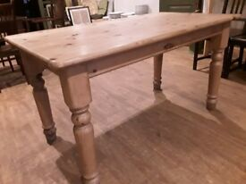 《《《RUSTIC FARMHOUSE SOLID HANDMADE PINE TABLE