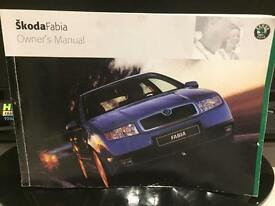Skoda Fabia owners book / manual / Skoda