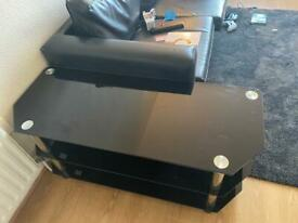 Black Glass TV Unit - 45 ONO