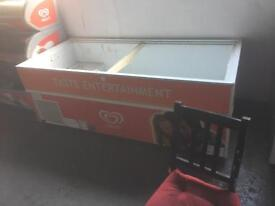 Commercial wall's iced cream freezer 2m by 80 Cm width