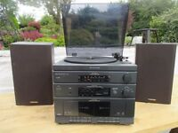 Toshiba stereo system with speakers