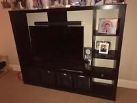 Ikea black / brown tv stand