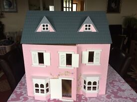Large Dolls' House for sale with some furniture