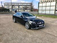2016 66 Mercedes-Benz C220 AMG PREMIUM SPORT – ONLY 18K Mileage, Diesel, Automatic, Black, SAT NAV
