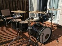 Mapex black panther drum kit Inc everything !! for sale