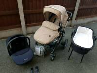 Silver cross pioneer travel system sand.