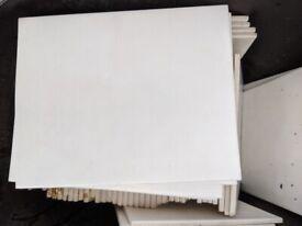White 25cm x 20cm Wall tiles