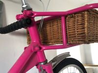 Candy coloured unique Pashley post bike with basket!