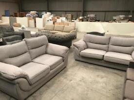 New grey 3 + 2 sofa suite in very good condition