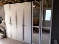 3 tall, solid matching wardrobes