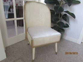 Small nursery basket chair, Lloyd Loom weave in off white