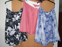 3 LADIES SKIRTS, 1 BRAND NEW, THE OTHER 2 ONLY WORN ONLY ONCE, ALL SIZE 14 + BRAND NEW HOLIDAY ITEMS