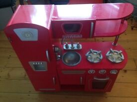 Kidkraft red retro kitchen+accessories