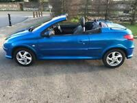 PEUGEOT 206 1.6 CC ALLURE CONVERTIBLE. LEATHERS. DRIVES LIKE NEW. LOW MILES ONLY DONE 77k.