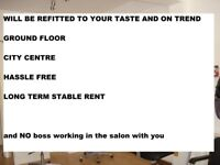 EXCITING CHANCE TO HELP DESIGN THE SALON TO YOUR TASTE, 2 STYLISTS WANTED on rent a chair basis.
