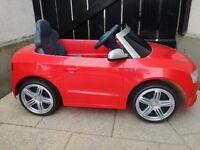 Audi S5 Cabriolet 6v ride on car