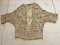 Select Ladies cardigan crochet beige Sz L used £2