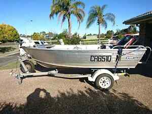 4.1m Tinny, 40hp outboard on trailer. No Swaps Rosewood Ipswich City Preview