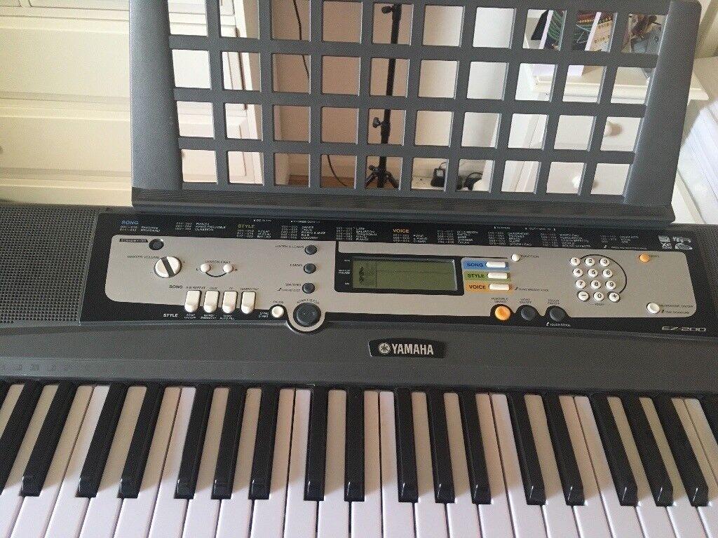 Yamaha EZ200-K Key Lighting Portable Keyboard