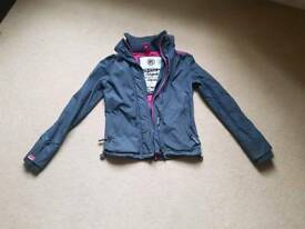 Ladies / Girls SuperDry Windcheater jacket x-small grey