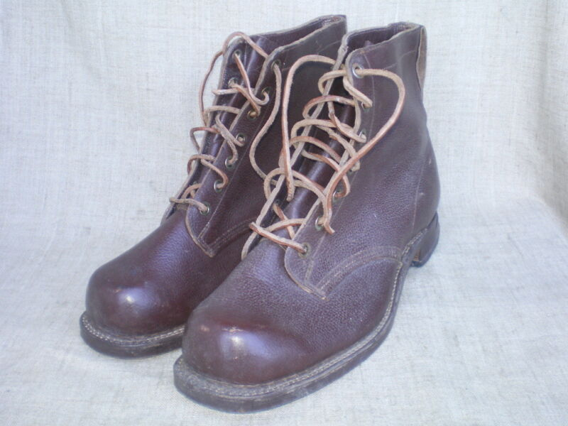 WWII Swedish Soldiers Marching/Ski Leather Boots. Size 13