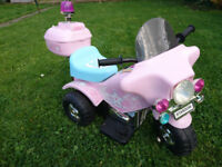Pink electric police trike