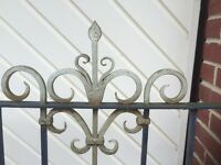 Pair of Hand-Forged, Wrought Iron, Driveway Gates. Complete with fittings. Highest Quality