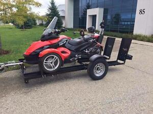 Stinger Folding Can-Am Spyder Trailer Never leave home without your Spyder!!! On and off in 5 Minutes No Hassle