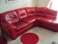 2nd Hand Red Leather Suite for sale