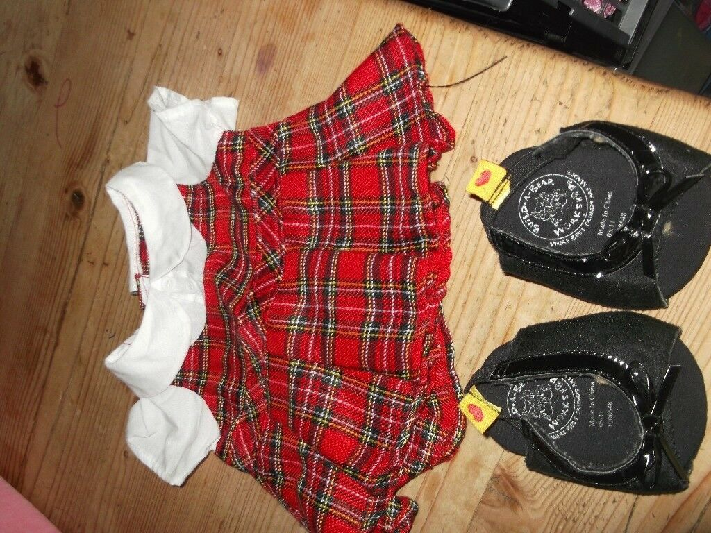 BUILD A BEAR TARTAN DRESS
