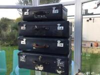 Four Globetrotter suitcases with keys
