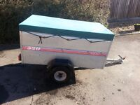 CADDY 530 TRAILER C/W EXTENSION KIT, LOAD COVER & SPARE WHEEL.