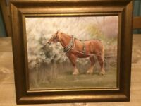 Suffolk horse painting in Acrylic by Frances Sullivan
