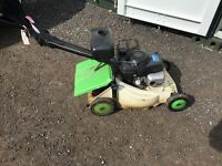 Honda petrol lawnmower.