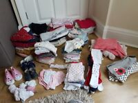 HUGE baby girl clothes bundle - 134 items
