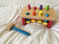 Melissa & Doug wooden hammer and pegs toy
