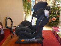 Black BeSafe Izi Combi Isofix X3 extended rear facing car seat