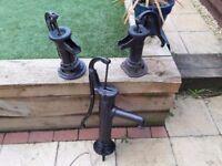 Joblot of Vintage Cast Iron Water pumps - Garden ornaments / Water Features