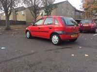 vauxhall corsa 1,0 in red