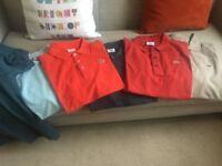 6 Lacoste polo shirts