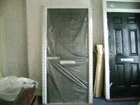 FRONT DOOR BLACK FRAME SIZE 1032mmWIDE X 2090mm HIGH X 70 NEW