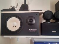 power amp kenwood + speakers + pasive subwoofer pioneer + active subwoofer toshiba