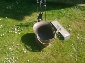 Fireplace tools & coal bucket