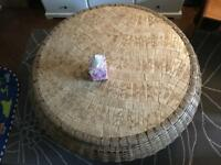 Wicker tiled coffee table