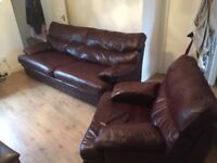 ***Leather 3x seater and chair G PLAN soft comfy leather Reduced!***