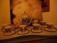 khala coffe set vintage german and psycadelic
